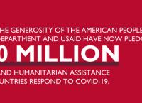 ԱՄՆ կառավարությունը, ԱՄՆ Միջազգային զարգացման գործակալությունը կտրամադրի 500.000.000$ տարբեր երկրներում COVID-19 համավարակի դեմ պայքարելու նպատակով