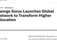 George Soros Launches Global Network to Transform Higher Education